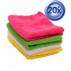 2X Assorted Microfibre Cleaning Cloths 10PK 30 X 30cm