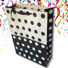 4X Assorted Polka Dot Collection Party Gift Bag Medium