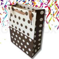 4X Assorted Polka Dot Collection Sturdy Gift Bag Large