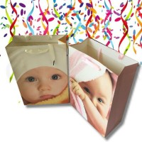 4X Assorted Sturdy Baby Gift Bag Medium