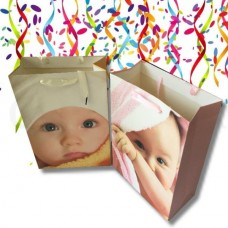 4X Assorted Sturdy Baby Gift Bag Large