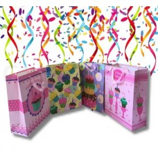 4X Assorted Happy Birthday Paper Gift Bag Medium