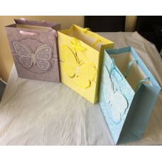 4X Assorted 3D Butterfly Paper Gift Bag Large Size 42X31X12cm