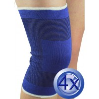 2X Pairs Elastic Cotton Knee Support