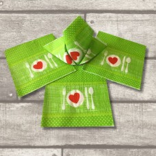 4X Apple Green Collection Paper Printed Napkins 20PK
