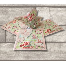 4X Baby Girl Collection Paper Printed Napkins 20PK