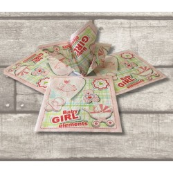 4X Baby Girl Printed Napkins Paper Serviettes 20PK