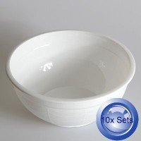 10X Round Disposable Soup Bowls And Lids 1050mL