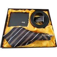 Astonishing Gift Set With Tie, Belt & Wallet - Limited Edition