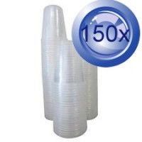3X Clear Disposable Plastic Cups 50PK 200mL