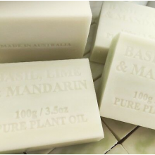 4X AUSTRALIAN Soap Basil, Lime & Mandarin No Chemicals