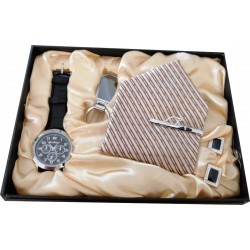 Ultimate Watch Gift Set With Tie Present, Key Ring