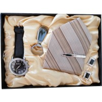 Beautiful Mens Gift Set With Watch, Tie & Keyring